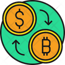 Money Exchange Dollar Bitcoin Icon