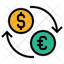 Money Exchange Dollar To Euro Cash Icon