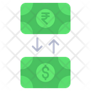 Money Exchange Rupees To Dollar Currency Icon