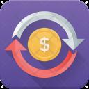 Money Exchange Circulation Icon