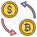 Transfer Dollar Exchange Icon