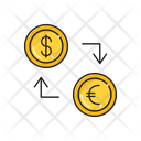 Dollar Transfer Euro Icon