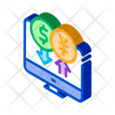 Computer Currency Exchange Icon