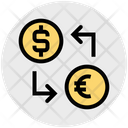 Money Convert Dollar And Euro Dollar Icon