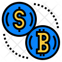 Money Exchange Bitcoin Icon