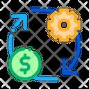 Money Exchange Management Icon