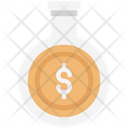 Money Experiment Flask Dollar In Flask Icon
