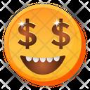 Money Face Emoji Icon