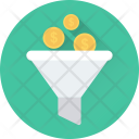Money Filter Funnel Icon
