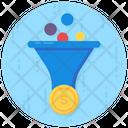 Money Filtration Data Conversion Sales Funnel Icon
