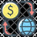 Money Flow Money Turnover Cash Flow Icon
