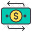Circulating Money Money Flow Cash Flow Icon