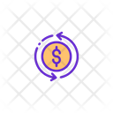 Money Flow Earning Flow Investment Flow Icon