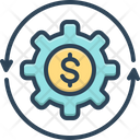 Money Flow Cash Recycle Icon