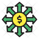 Money Flow Cash Flow Finance Icon