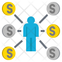 Customers Money Coin Icon