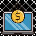 Money Flow Laptop Icon