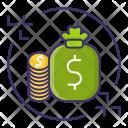 Money Flow Cash Icon