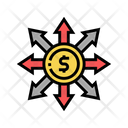 Money Forecasting Diversification Consumption Icon