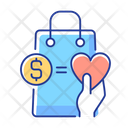 Money From Purchases Going To Charity Special Offer Icon