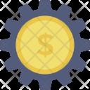 Money Gear Dollar Icon