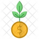 Growth Investments Money Icon