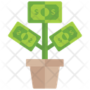 Money Growth Dollar Plant Business Growth Icon