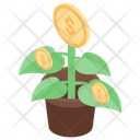 Dollar Plant Money Growth Financial Growth Icon