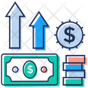 Money Growth Financial Growth Business Advancement Icon