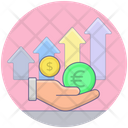 Money Growth Financial Growth Data Analytics Icon