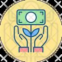 Growth Hand Money Icon