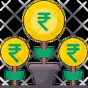 Money Growth Investment Money Plant Icon