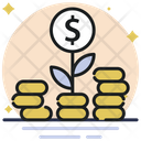 Money Growth Money Plant Business Growth Icon