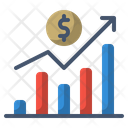 Graph Growth Statistics Icon