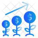 Money Coin Tree Icon