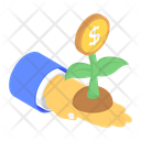 Dollar Plant Money Plant Money Growth Icon