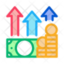 Money Growth Arrows Icon