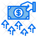 Hand Growth Money Icon