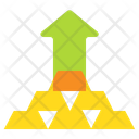 Money Growth Gold Icon