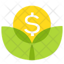 Money Coin Plant Icon