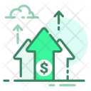 Growth Top Money Icon