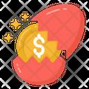 Egg Hatch Money Money Hatching Split Egg Money Icon