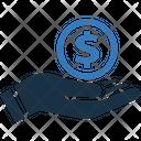 Money in hand Icon