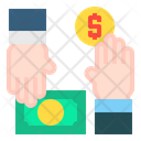 Money In Hands Icon