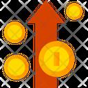Money Increase Dollar Increase Finance Icon