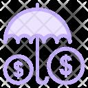 Money Insurance Umbrella Icon