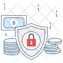 Money Insurance Safe Investment Money Protection Icon