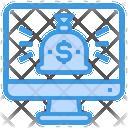 Money Bag Computer Financial Icon