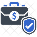 Briefcase Money Protection Protection Icon