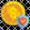 Insurance Money Coin Icon